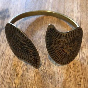 Cute brass gold tone cuff bracelet